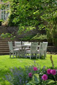 Outdoor furniture in white