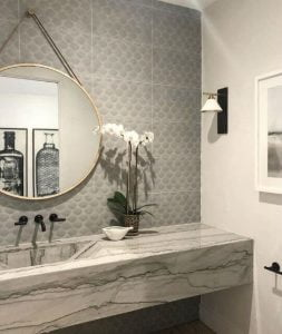 patterned walls from bathroom renovation company houston